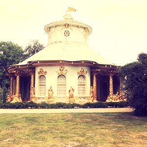 The Chinese Pavilion in the Gardens of Sanssouci in Potsdam