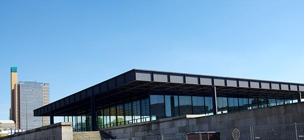 Image of Neue Nationalgalerie seen from behind