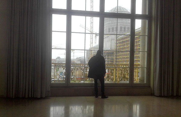Image of the balcony of Karl Liebeknecht of the former State Council in Berlin.