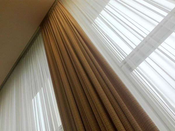 Image of curtains inside the former State Council.