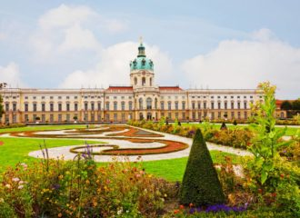 View of Schloss Charlottenburg (Charlottenburg Palace) in Berlin, Germany